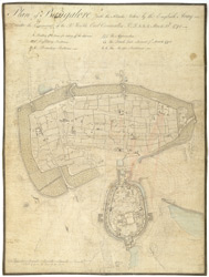 Plan of Bangalore (with the Attacks) taken by the English Army under the Command of the Rt. Honble. Earl Cornwallis KG etc. etc. etc.  March 22nd 1791.